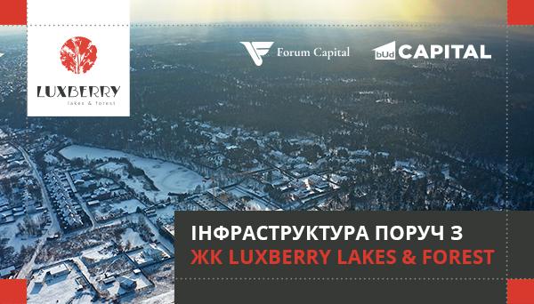 Інфраструктура навколо житлового комплексу Luxberry lakes & forest