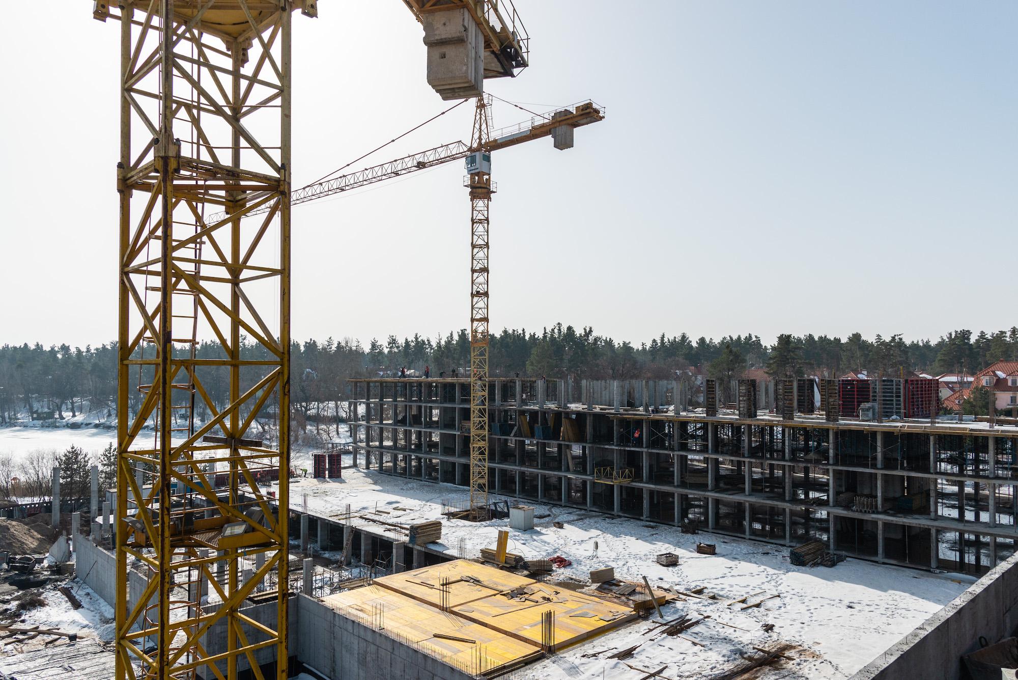 Хід будівництва — лютий 2021 року
